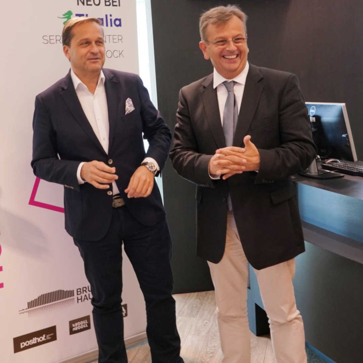 Vorstandsdirektoren Mag. Kerschbaum & Mag. Ziegler © Reinhard Winkler