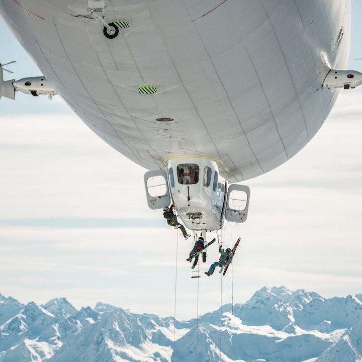 Zeppelin Skiing © Mirja Geh/Red Bull Content Pool