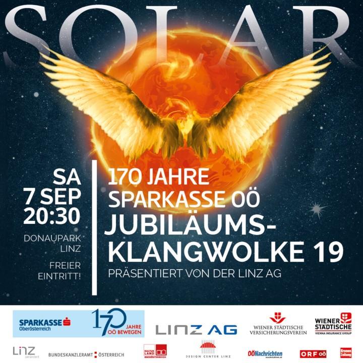 170 Jahre Sparkasse OÖ Jubiläumsklangwolke 19 präsentiert von der LINZ AG